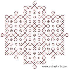 Indian Rangoli Designs, Rangoli Designs With Dots, Beautiful Rangoli Designs, Henna Designs, Kolam Dots, Geometry Formulas, Dotted Drawings, Muggulu Design, Kolam Rangoli