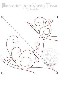Birds with heart would be cute as embroidery or appliqué or mixture.  Love it!