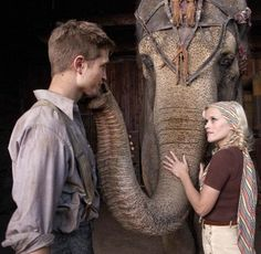 reese witherspoon and robert pattinson.   water for elephants is now one of my favorite movies. <3