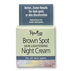 Reviva Labs -Brown Spot Skin Lightening Night Cream | Nước hoa chính hãng, Mỹ phẩm cao cấp, Cty Mỹ Kim