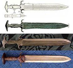 "Modern reproduction of ""Odysseus's sword"", with original dagger"