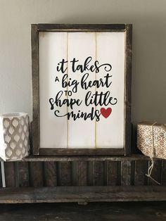 Farmhouse decor Framed wood sign- fixer upper style, daycare provider, teacher, gift by BrushAndBloomMarket on Etsy
