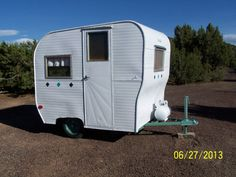 1960 field stream vintage travel trailer smaller than canned ham