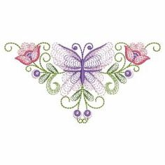 Rippled Butterflies 4 02(Sm) machine embroidery designs