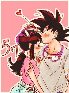 Manga Anime, Anime Couples Manga, Dragon Ball Z, Akira, Dbz Memes, Son Goku, Chi Chi, Kawaii, Sword Art Online