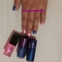 Pink and Blue nails using YuXuan #63, ALMA #64 and ALMA #127