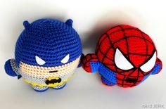 Batman Superhero Inspired Plush Toy - Fatman - Super Balls Amigurumi