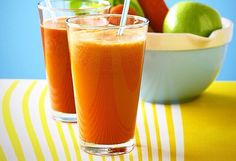 1 apple, 2-3 carrots, 1-2 celery stick and a small piece of ginger