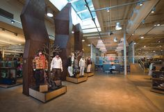 rei store interior | Reflecting REI's commitment to environmental stewardship, a number of ...