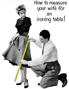 This advert for ironing boards would be completely rejected nowadays, however during this period women were seen as housewives and this advert did create interest for the company.