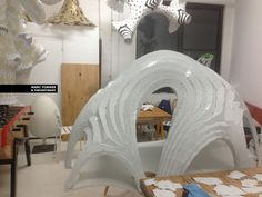 Chrysalis Amphitheater Structural Prototype / By Marc Fornes & THEVERYMANY