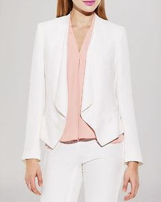 Business Casual Networking Event: Vince Camuto Drape Front Blazer