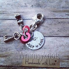 Jeep Girl keychain--great for anyone in love with jeeps. Personalized, Hand-Stamped keychain on Etsy, $23.50