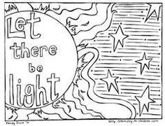 Creation Coloring Pages and Bible Lessons, to make a flip chart for the creation song.
