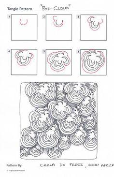 Zentangle Patterns | Tangle pattern: pop cloud