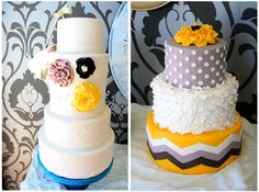 chevron cake!