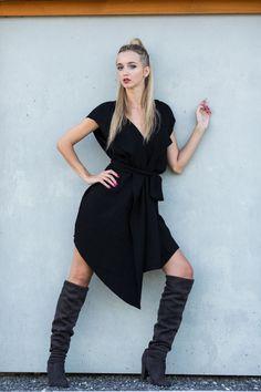 Kardigan z asymetrycznym dołem - JD-JOANNA-DWORAKOWSKA - Sukienki mini