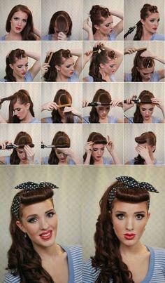 Прически в пин ап стиле на длинные волосы