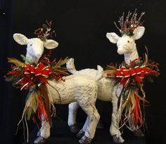 Male and Female Christmas Reindeer by DesignsbyHEartWorks on Etsy
