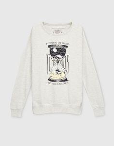 Printed sweatshirt - Sweatshirts - Clothing - Man - PULL&BEAR United Kingdom