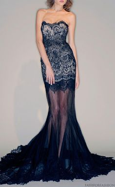 I love this dress, but I think I would take off the shear material on the front and only have it flowing down the back.  fashforfashion -♛ STYLE INSPIRATIONS♛