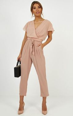 No Limits Jumpsuit In Mocha Jumpsuit Dressy, Jumpsuit Outfit, Pink Jumpsuit, Denim Jumpsuit, Cheap Summer Outfits, Dressy Outfits, You Look Fab, Wedding Jumpsuit, Jumpsuits For Women