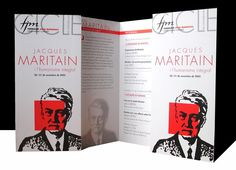 Fulletó Cicle Jacques Maritain 2003, Fundació Joan Maragall.  #design #religion #culture #Maritain