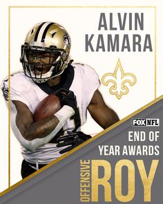 RB Alvin Kamara is your 2017 Offensive Rookie of the Year, as voted on by the NFL on FOX fans. WhoDat!!