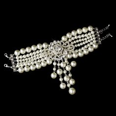 Moonlit Bridals - Vintage Pearl Bracelet Silver Ivory or White Clear FREE SHIP, $72.99 (http://www.moonlitbridals.com/vintage-pearl-bracelet-silver-ivory-or-white-clear-free-ship/)