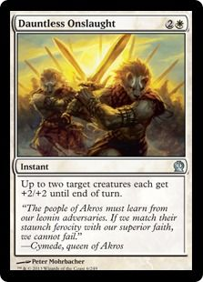 Dauntless Onslaught Masters White Deck Card Cards Magic The Gathering