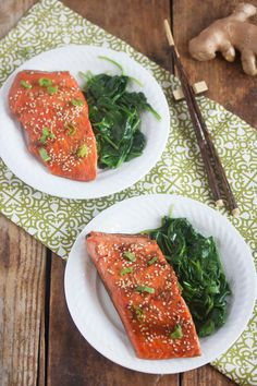 Healthy Food Friday: Ginger {Sticky Asian Glazed Salmon} - Lexi's Clean Kitchen