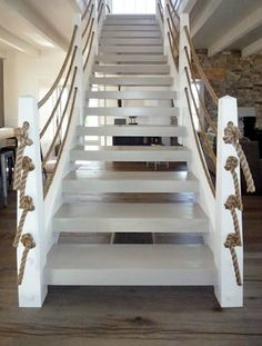 Pursley Architecture + Rope Banister, so fun for beach house