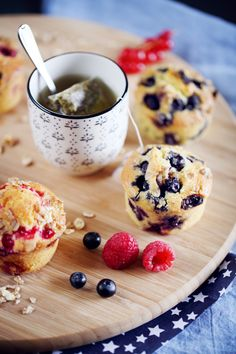muffins muesli/fruits rouges