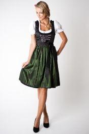 Trachten Dirndl Set Loretta, Midi, black/ dark green