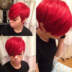 Yasssss  Quick weave pixie for the birthday gal!!!!! #stlstylist  #thecutlife