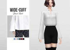 Sims 4 CC's - The Best: Wide Cuff Dress Shirt by Waekey