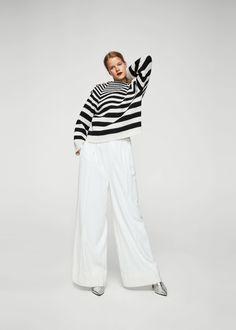 Buttoned striped sweater | MANGO