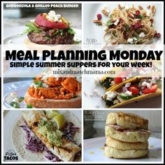 Meal Planning Monday #186