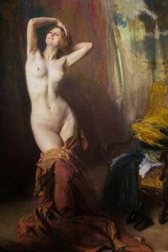 """Émile Friant, 1863-1932 """"Devant la psyché"""" or """"Nymph"""", 1912"""