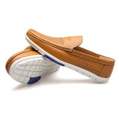 Men Hollow Out Breathable Soft Doug Shoes Casual Driving Leather Loafers - NewChic Mobile.