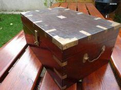 COFFRE ACAJOU XIXè SIECLE ECRITOIRE WRITING BOX SLOPE