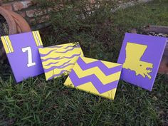 LSU Painting GEAUX TIGERS. $18.00, via Etsy. For Taylor