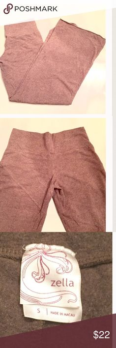 ZELLA heathered stretchy yoga pants These are gorgeous and sooo comfy. A fine gauge knit with great stretch. The matching hoodie zip up is also for sale in a separate listing. You'll live in this outfit. NO TRADES OR OFF POSH TRANSACTIONS. Thanks. 😊 Zella Pants