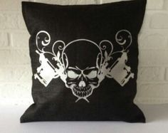 . Punk Rock Bedroom, Throw Pillows, Toss Pillows, Cushions, Decorative Pillows, Decor Pillows, Scatter Cushions