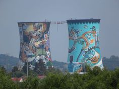 Soweto - Johannesburg (we got bounced from the shebeen at the bottom of these towers!