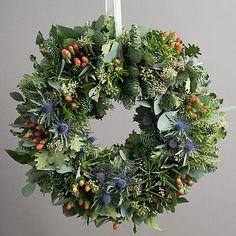 highland festive foliage wreath early bird discount 10% by the flower studio | notonthehighstreet.com