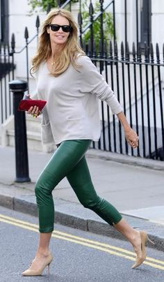 Elle Macpherson shops at Marie-Chantal on Walton Street in London