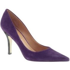 """Nine West purple suede pointy toe pumps Gorgeous Nine West very gently used classic style purple suede pumps feature a pointy toe and a 3.5"""" heel. Upper is genuine leather. Sole is man made. Nine West Shoes Heels"""