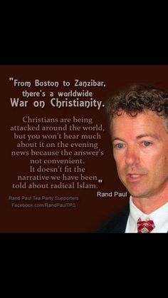 This is too real not to be real Rand Paul. It is a serious issue when a Libertarian voices his opinion on such evil!