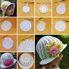 Crochet Diy Gorgeous Crochet Hat for Little Princesses – Free Pattern and Guide - There's something uniquely timeless and endlessly elegant about a gorgeously crafted crochet hat – especially if it happens to. Crochet Diy, Bonnet Crochet, Crochet Kids Hats, Crochet Girls, Crochet Beanie, Crochet Crafts, Yarn Crafts, Crochet Clothes, Crochet Projects